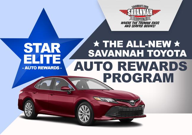Savanah Toyota Auto Rewards Program